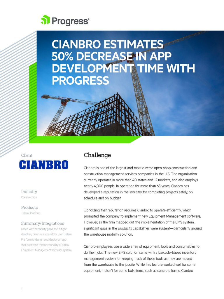 Cianbro Construction Case Study
