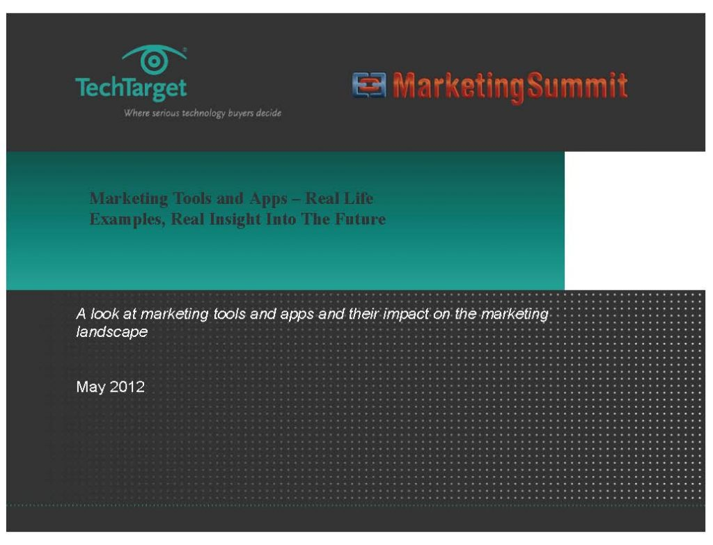 Marketing Summit Presentation