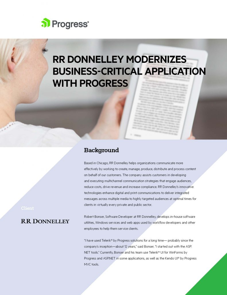 RR Donnelley Case Study