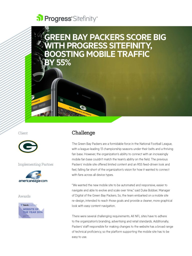 Green Bay Packers Case Study