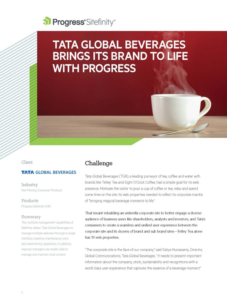 Tata Beverages Case Study