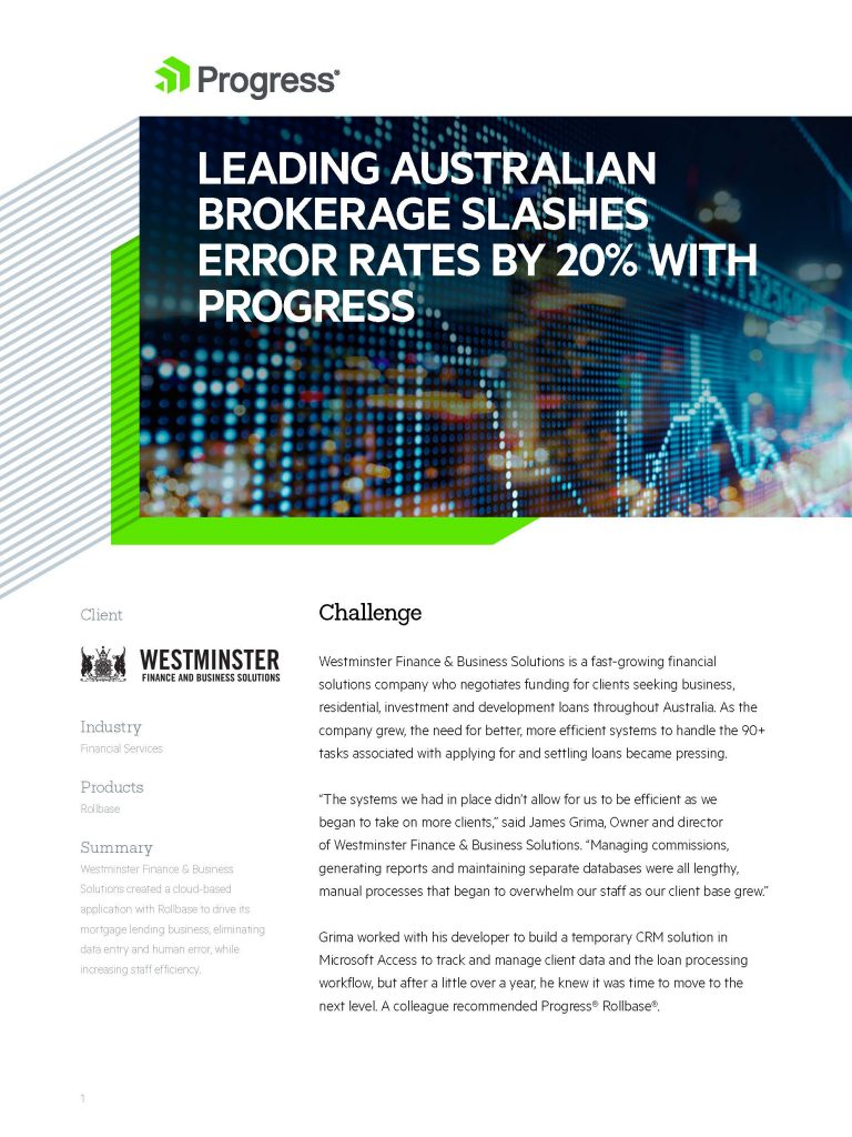 Westminster Rollbase Case Study